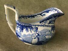 Staffordshire Childs Blue & White Creamer Milk Jug 1820 Transferware
