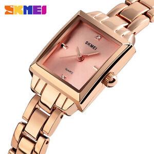 SKMEI Women's Watch Luxury Waterproof Quartz Wristwatch Rhinestone Inlay 1407 9