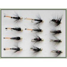 30 denominato goldhead Ninfa per pesca a mosca Misto 10//12 TESTA D/'ORO Trote Mosche