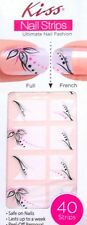 Kiss Nail Stick on NAIL DRESS Applique Strips French or Full # 56749 A-line VHTF