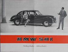 """Prospekt BMW 501 """"Barockengel"""" Modelle 501-6 501-8  07/55"""