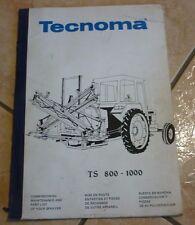 Documentation technique PULVÉRISATEUR TECHNOMA TS 800 - 1000 tracteur agricole
