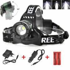 12000lm XM-L T6 LED Headlamp Zoomable Headlight Rechargeable Flashlight 2x18650