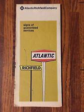 Vintage Atlantic Richfield Roadmap Maine, New Hampshire & Vermont