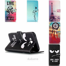 For Samsung Galaxy Phone Flip Card Holder Stand PU Wallet Leather Case Cover Hot