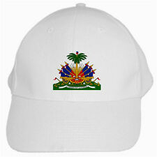 New Haiti Haitian Coat of Arms for WHITE CAP Hat Free shipping