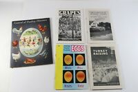 Vintage LOT of Farm Control of Poultry Diseases Turkey Eggs Grapes Agriculture
