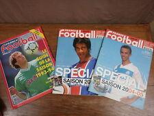 3x FRANCE FOOTBALL No 2468 3044 3095 SPECIAL SAISON 1993/94 + 2004/05 + 2005-06