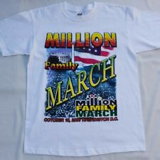 Million Family March Oct. 16, 2000 Vintage Singlestitch Deadstock Large White