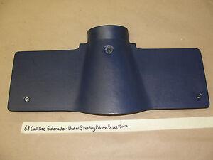 1968 68 Cadillac Eldorado DASH UNDER STEERING COLUMN BEZEL TRIM #1487984 DK BLUE
