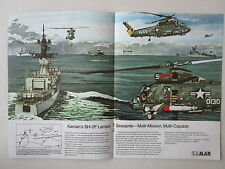 10/73 PUB KAMAN SH-2F LAMPS SEASPRITE US NAVY ASW ANTI SUBMARINE ORIGINAL AD