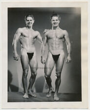NUDE BEEFCAKE BODYBUILDER MEN POSING STRAPS vtg 40s MALE PHYSIQUE photo GAY INT