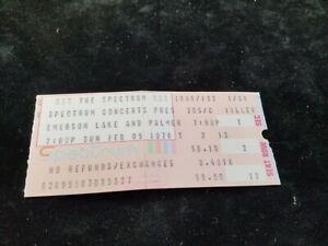 Vintage EMERSON LAKE & PALMER ELP Concert Ticket Stub Feb 05 1978