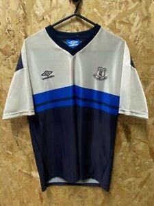 Vintage Umbro Everton 1994/95 Training T-Shirt Blue and Silver Size Medium