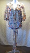 Jeans by Buffalo Women's XS Sheer Blouse Watercolor Oversized Look Top Blouse
