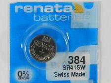 RENATA  Watch Battery  #384 /SR41SW   Swiss Made  1Pc