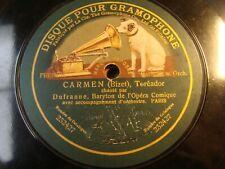 """10"""" - 78 RPM - DUFRANNE - Carmen Toréador / La bohème - GRAMOPHONE - 232428"""