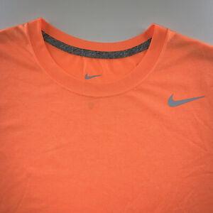 Men's Nike Logo Dri-Fit Tee Shirt Bright Orange Size Large NEW