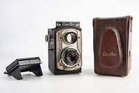 Ciro-flex TLR Camera with Wollensak 85mm f/3.5 Lens & Case for PARTS REPAIR V15