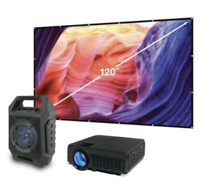 Pop-Up Movie Projector + Bluetooth Speaker w/ Theater Screen (THE2021BDL)