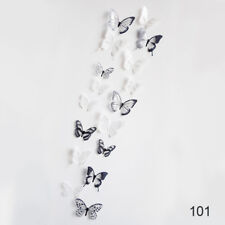 18Pc 3D DIY Butterfly Wall Stickers Art Design Decals Bedroom Living Room Decor