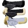 Rhinegold Luxe Faux Sheepskin Fur Lined Half Pad Saddle Pad - Black White - Full