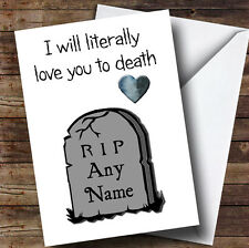 SAN VALENTINO LOVE YOU a morte PERSONALIZZATO SAN VALENTINO CARD