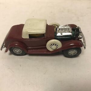 VINTAGE RARE MARX 1/32 32 MAROON FORD SLOT CAR  FROM MARX R&D NICE SHAPE