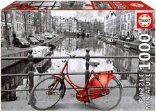 Educa 17116. Bicicleta de Amsterdam .Puzzle miniatura de 1000 piezas. 46x30cm