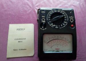 """Multimètre Contrôleur METRIX 430 C . Complet """" boite notice """""""
