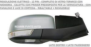 SPECCHIO RETROVISORE ELETTRICO RIB 12PIN DESTRO 800502 FORD MONDEO 2010 2014