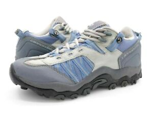 Cannondale Womens 8.5 Gray Blue Lace Up Low Top Mountain Bike Cycling Shoes SPD