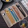 4 Pcs Stainless Steel Metal Drinking Straw Reusable Straws + 2 Cleaner Brush Kit
