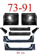 8Pc OEM 73 91 Chevy Blazer Floor Pan X-Rocker Inner & Support GMC Jimmy Suburban