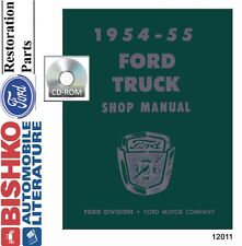 1954 1955 Ford Truck Shop Service Repair Manual CD Engine Drivetrain Electrical