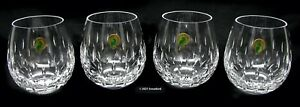 WATERFORD Barware - Stemless Wine Brandy - Cut Crystal - 16 oz - Set of 4 NEW!!