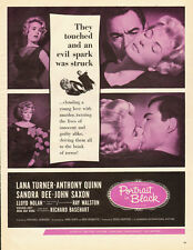 1960 vintage movie ad, 'Portrait in Black', Lana Turner, Sandra Dee- 061213