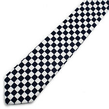 NEW Retro Black & White Checkered Check Tie indie rock