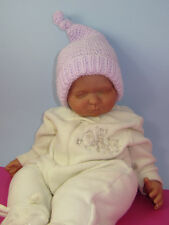 PRINTED INSTRUCTIONS--BABY GARTER STITCH TOPKNOT PIXIE HAT KNITTING PATTERN
