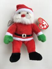 Santa Claus New Jingle Beanie Christmas Ty Plush Stuffed Collectible 2002 Tag