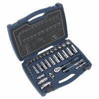 """Sealey AK8994 Socket Set 34pc 3/8""""Sq Drive 12pt WallDrive® Metric"""