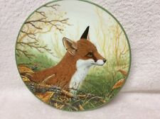 """New listing Collectors ceramic wall plate limited edition """"Attentive Fox� Royal Doulton"""