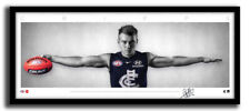 PATRICK CRIPPS MINI WINGS CARLTON FC AFL PRINT SIGNED FRAMED MEMORABILIA