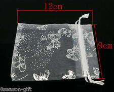 500Pcs 9x12cm Mixed Butterfly Organza Wedding Gift Bags