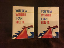 Carnival Cruise Lines Deck of Playing Cards You're a Winner I Can Feel It