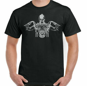 Spartan Biker T-Shirt Mens Motorbike Motorcycle Custom Chopper Indian Bike Top