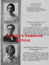 1917 Washington DC Central High School Yearbook~Photos~WWI~Cadets~Basketball~++