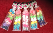 35 Girls HAIR BOWS assorted spring  colors
