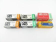 6x 120 Rollfilm Expired Films abgelaufene Filme ORWO NP15 20 Chrom UT18 Kodak