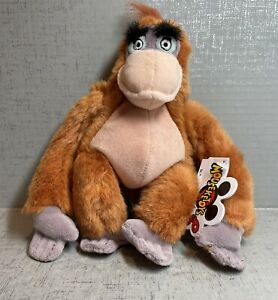 """Disney Jungle Book King Louie 8"""" Monkey Plush Ape With Fastening Hands NWT"""